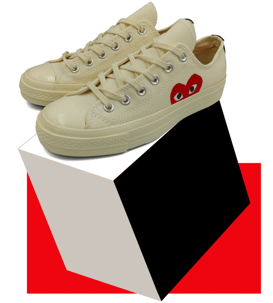 Converse CDG x PLAY Low White