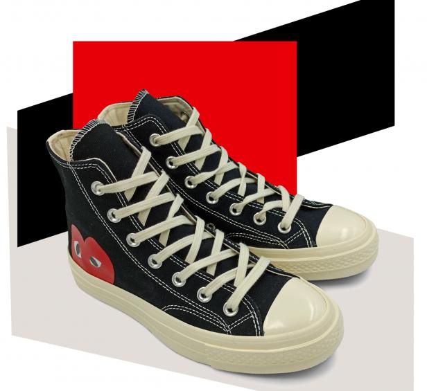 Кеды чёрные высокие Converse Comme Des garcons